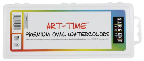 Sargent Art 22-8426 16-Count Art Time Premium Watercolor Set, Oval Pan Set with Brush