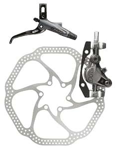 Avid Elixir 7 Front Disc Brake with Carbon Left Lever (160mm HS1 Rotor, 850mm Hose)- Storm Grey