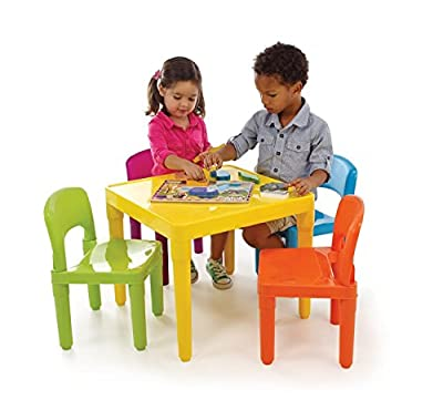 Tot Tutors Kids' Secondary Table and 4-Chair Set by Tot Tutors