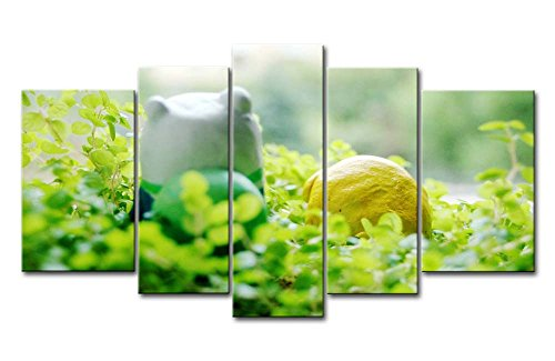 Green 5 Panel Wall Art Painting Plants Pictures Prints On Canvas Botanical The Picture Decor Oil For Home Modern Decoration Print