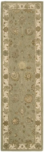 "Nourison Traditional Runner Area Rug 2'3""x8' Light Green Nourison 3000 Collection"