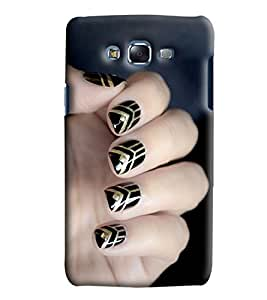 Blue Throat Nail Art Printed Designer Back Cover/Case For Samsung Galaxy J7