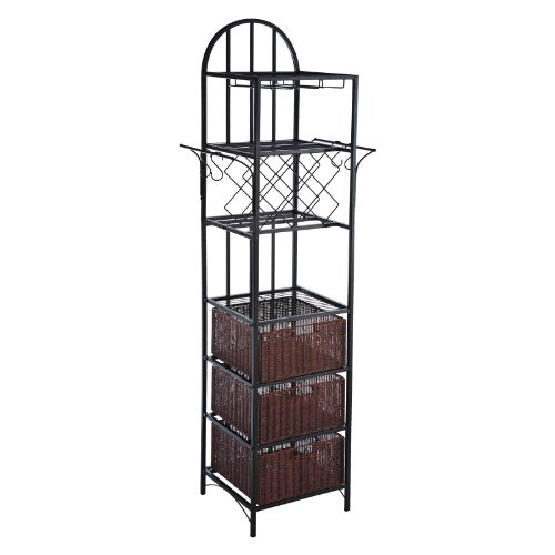 Southern Enterprises Faustina Kitchen Storage Wine Rack