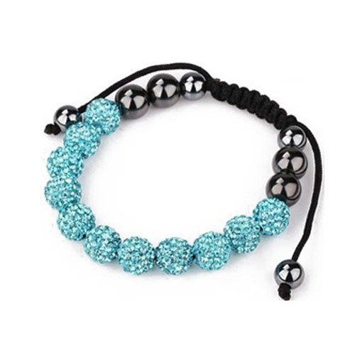 Fashion Shamballa, 11 10mm Aqua Blue..