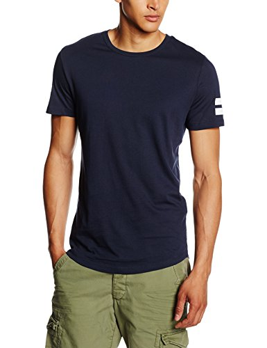 JACK & JONES Jcoboro Tee SS Crew Neck, T-Shirt Uomo, Blu (Navy Blazer), Large (Taglia Produttore: L)