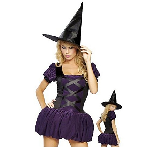 Witch Halloween Costume Pumpkin Purple Costume Witch Hat Fancy Dress witch outfit