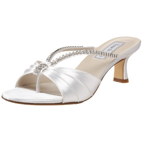 Touch Ups Women's Phoebe Slide Sandal,White,8.5 M US