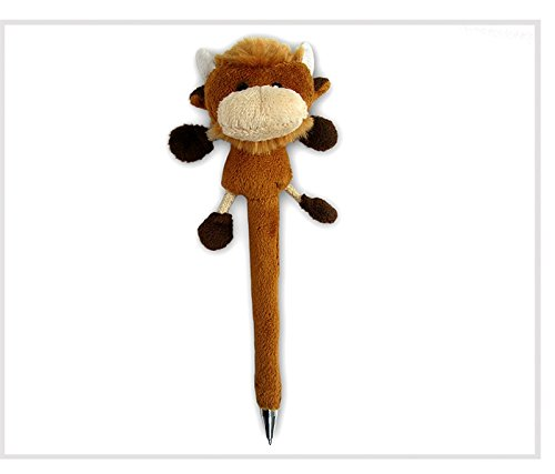 Puzzled Buffalo Plush Pen