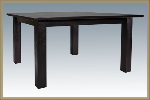 Montana Woodworks MWHCDT4PSV Homestead Four Post Dining Table - Painted and Lacquer