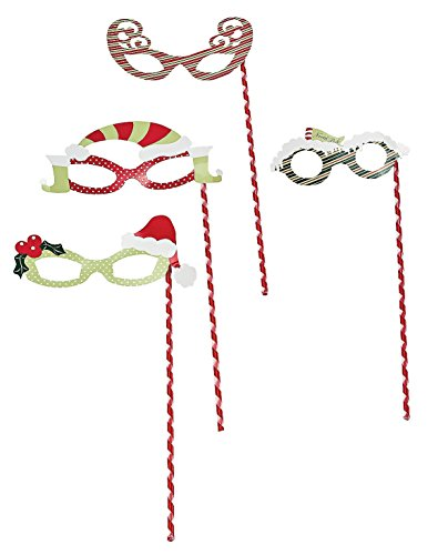 Christmas Masquerade Masks - 12 pcs