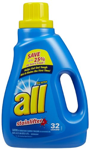 All HE Laundry Detergent, Stainlifter, 50 Ounce (072613450343)
