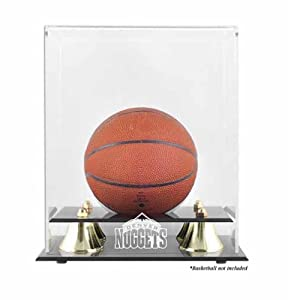 Mounted Memories MM-DISPK4NUGT Denver Nuggets Golden Classic Logo Mini Basketball Display Case