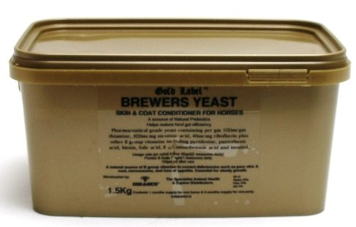 Gold Label Brewers Yeast 1.5Kg -Natural B Vitamins, Conditions Skin And Coat, Benefits Nervous Horses