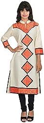Goodyygoods Women's Cotton Regular Fit Kurti (GG 15, Multi, Large)