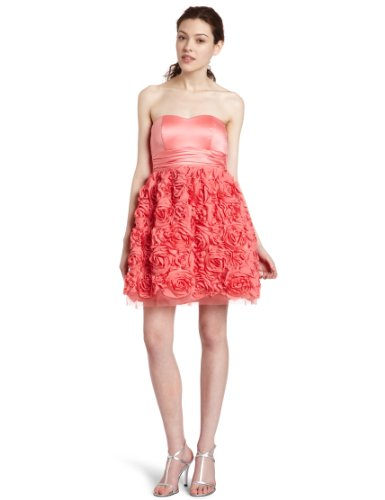 Xoxo Juniors Rosette Party Dress,Pink,9