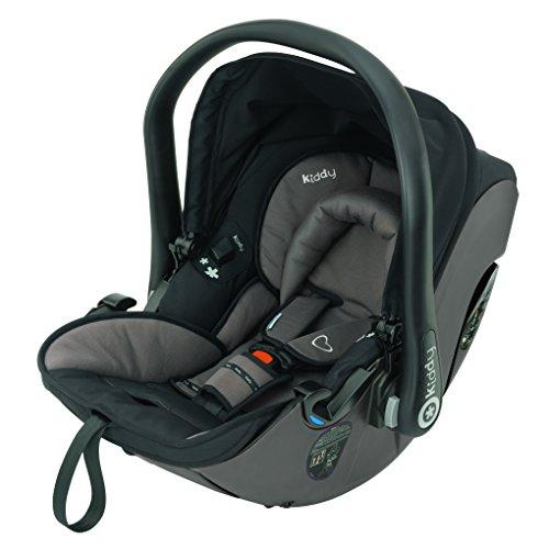 Kiddy 41920EV088 Evolution Pro 2 Babyschale, patentierte KLF-Liegefunktion, Isofix-fähig, Gruppe 0+ (0-13 kg, Geburt-ca. 15 Monate), Walnut (dunkelbraun)