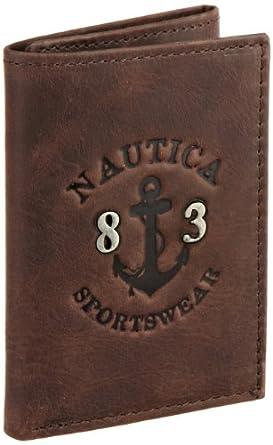 (疯抢)Nautica诺帝卡新款男士竖款钱包Men's Leeward Trifold Wallet $24.99