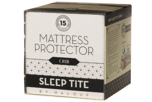 Sleep Tite By Malouf Crib Protector - 100% Waterproof-Eliminates Dust Mites -15 Year Warranty front-576993