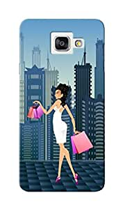 KnapCase Shopping Girl Designer 3D Printed Case Cover For Samsung Galaxy A7 2016