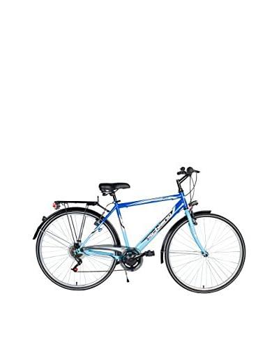 """SCH Bicicleta Trekking 28"""" Ares Acc. 6 V Eco Power Azul Celeste"""