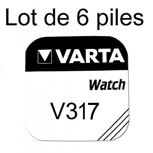 Pile de montre bouton varta 317 SR62SW 1.55v lot 6 piles