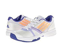 adidas Performance Women\'s Galaxy Allegra III Tennis Shoe, White/Flash Orange/Night Flash, 9.5 M US