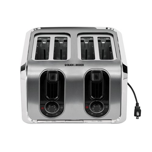 Black & Decker TR1400SS 4-Slice Stainless-Steel Toaster (Russell Hobbs 4 Slice Toaster compare prices)