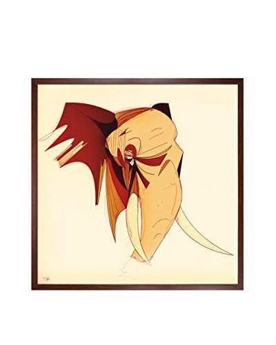 Ofir Sasson Elephant 214 Framed Print On Canvas, Multi, 25.5 x 25.5