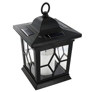 garden solar powered led candle table lantern hanging