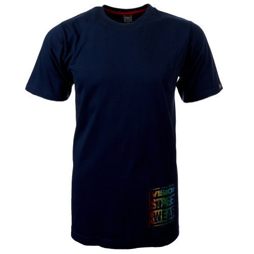 Vision Street Wear Multi Color Logo T-Shirt , insignia blue