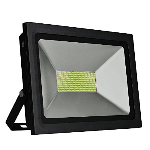 Solla 100W LED Flood Lights Outdoor Security Lights, Super Bright Floodlight Waterproof LED Spotlights Wall Lamp,8600 LM,Daylight White (5500-6500K),480LEDs (100w Led Flood Light compare prices)