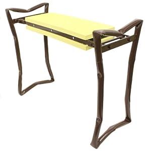 Garden Pals Kneeling Bench Folding Seat Kneeler Yellow Brown Gardening