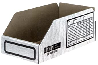 "Lyon NF8360 Thrifti-Bin Corrugated Shelf Box for 12"" Deep Shelves, 10"" Width x 11-3/4"" Depth x 4-1/2"" Height, (Pack of 100)"