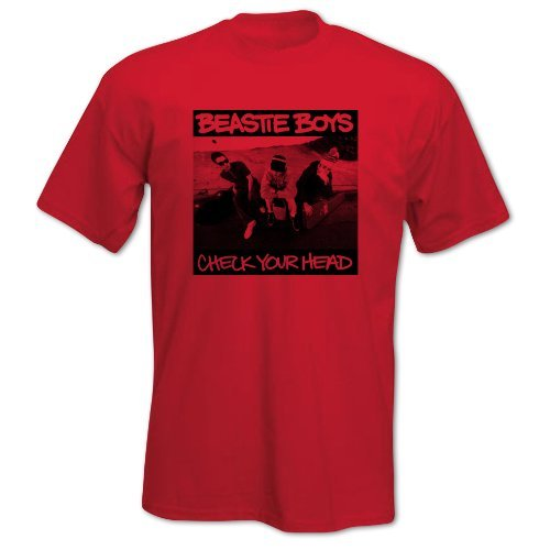 Bang Tidy Clothing Men'S Hip Hop Music T-Shirt With Beastie Boys New York City Check Your Head Graphics Large Red