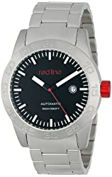 red line Men's RL-50045-11 Mileage Analog Display Japanese Automatic Silver Watch
