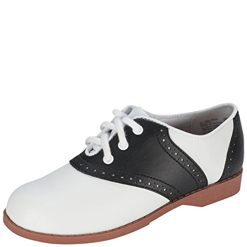SmartFit Girl's Black/White Saddle Oxford 2.5 M US (Saddle Shoes For Girls compare prices)