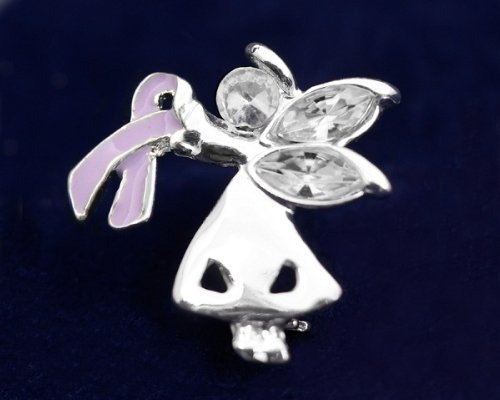 Lavender Ribbon Pin-Angel By My Side (27 Pins)