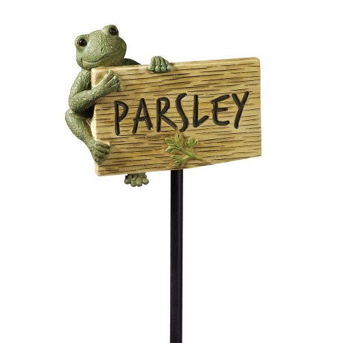 Grasslands Road Frog Figurine Parsley Garden Marker, 27-Inch, Set Of 3