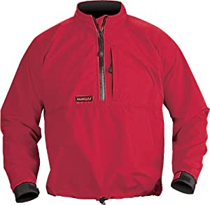 Stohlquist Splashdown Long Sleeve Paddling Jacket (Fireball Red, Small)