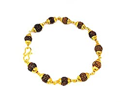 Discount4product Rudraksha brecelet made up with rudraksha beads for Men & Women