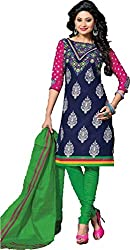 BAPUJI PRINT - WOMEN'S COTTON UNSTITCH DRESS MATERIALS - SE - 019