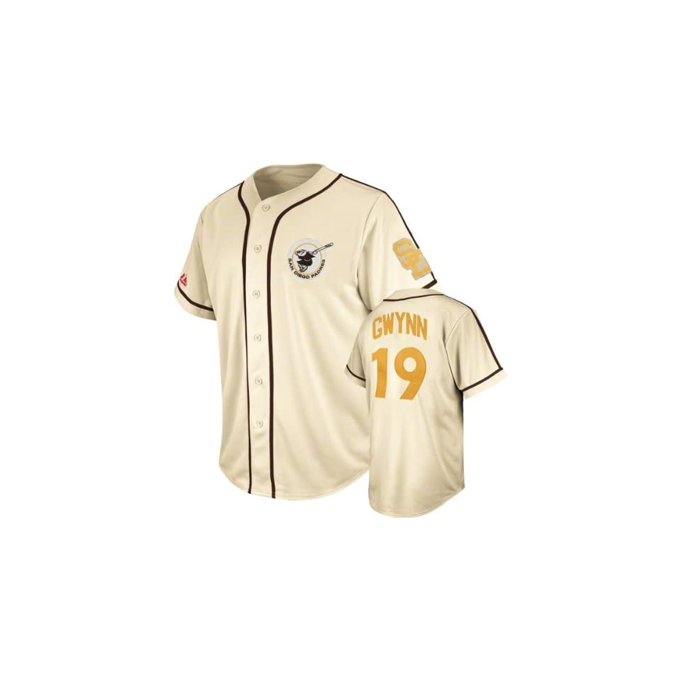 online retailer c15b2 f2766 Tony Gwynn San Diego Padres Majestic Cooperstown Natural ...