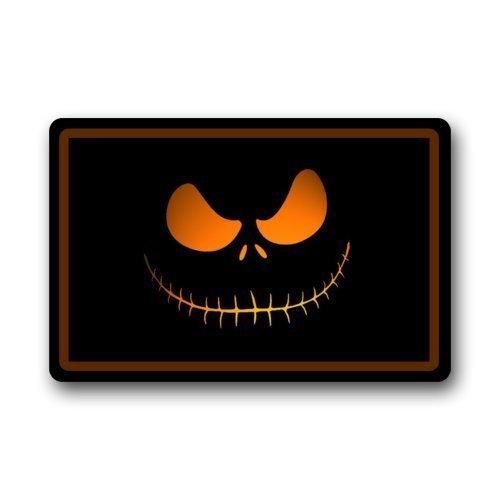 Custom lavabile in lavatrice, Skellington del film Nightmare Before Christmas, per Halloween %2FOutdoor Zerbino Smileyworld-Tappeto, dimensioni: 23 x 15 cm 1,52 (.6 1,78 (.7 cm (L)