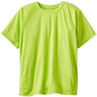 Kanu Surf Big Boys' Solid Swim Shirt, Lime Punch, 6/X-Small