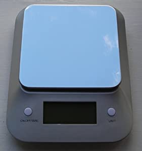 Threatened by competitor! Digital Kitchen Scale 1g to 11 lb Capacity with Stainless Steel Platform and Extra Large Blue Back Light LCD Display 2.6 x 1.1 inch