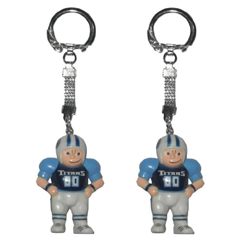 (Pack of 2)NFL Tennessee Titans Collectable Player Figurine Keychain Blue&White at Amazon.com