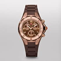 MICHELE Tahitian Jelly Bean Brown Rose Gold Tone, Brown Dial