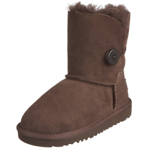 Ugg Australia Junior Bailey Button Chocolate Classic Boot 5991 10 Child UK
