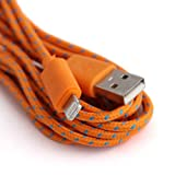 Mr.right 3/6/9ft 8pin New Style Rope Braided Usb Sync Charger Data Cable Cord Data for Iphone5,5s,5c/6/6plus/ipad/ipad Mini(orange) (9ft)
