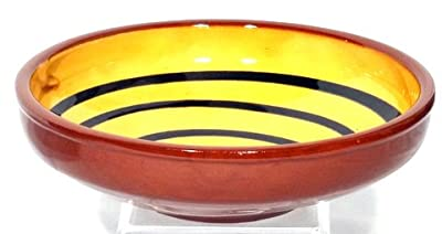 Genuine Terracotta 25cm Serving Bowl - Yellowdark Green by Be-Active